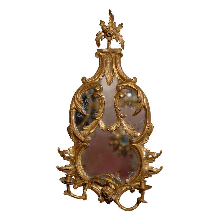 French Mirror Candle Sconce