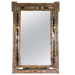 Venetian Reversed Painted Mirror Framed Mirror