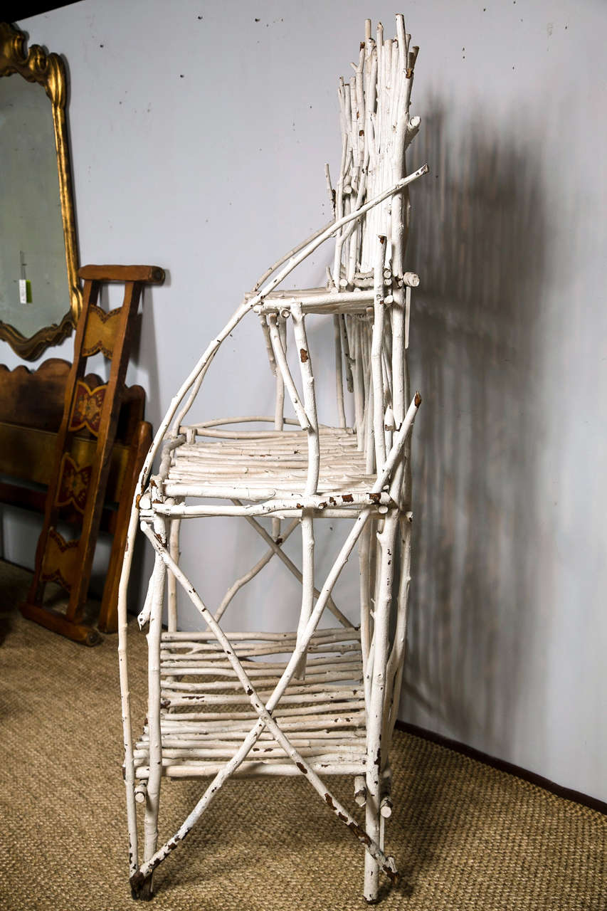 unique adirondack twig etagere at 1stdibs. Black Bedroom Furniture Sets. Home Design Ideas