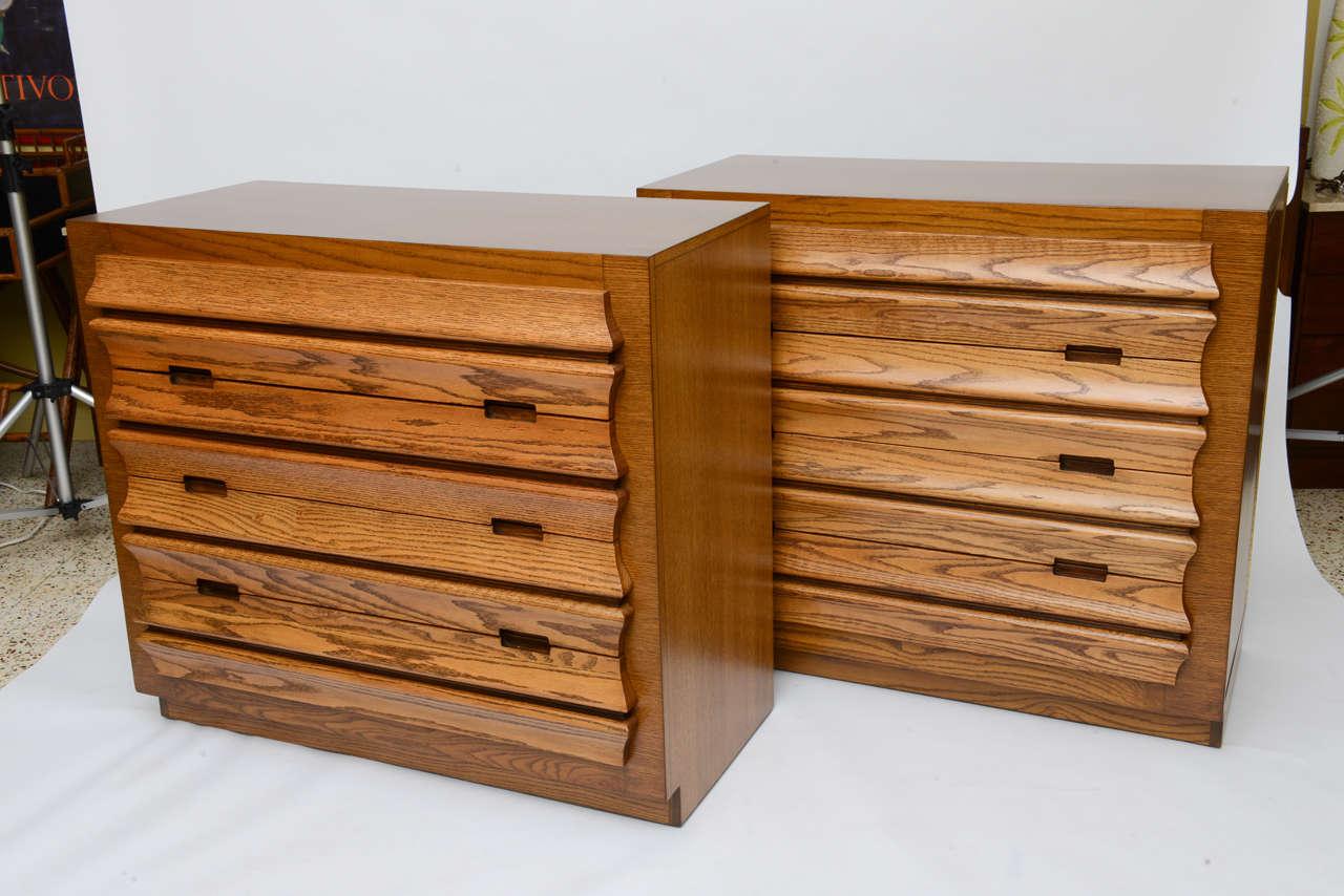 Harold Schwartz Sculpted Front Dressers by Romweber 2