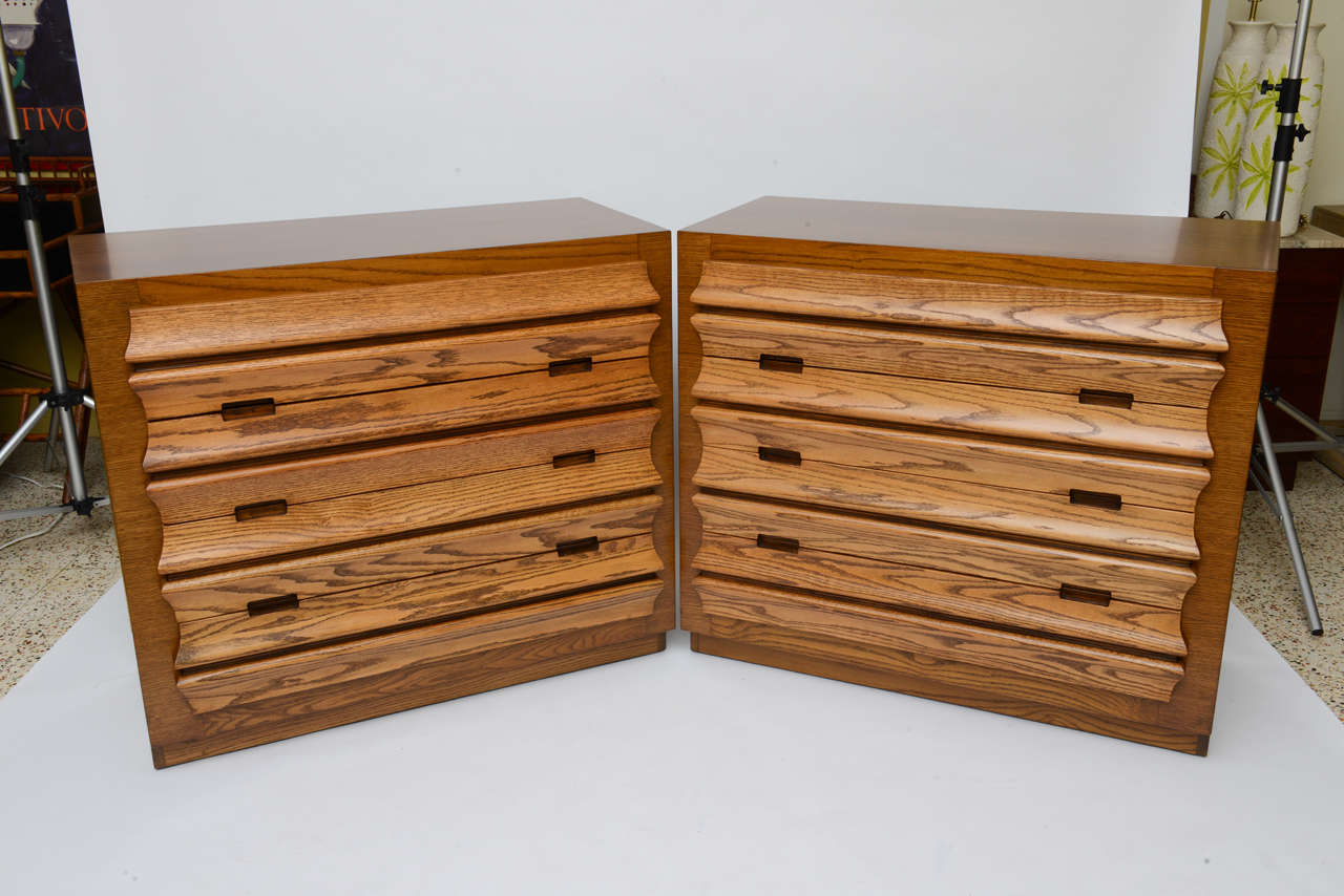 Harold Schwartz Sculpted Front Dressers by Romweber 3