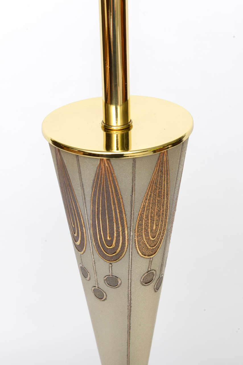 Tall Waylande Gregory Style Zebra Carousel Motif Table Lamp In Excellent Condition For Sale In Miami, FL