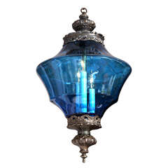 BLUE  CEILING PENDANT DRAMATIC moving sale reduction $   to 2500  from$4200