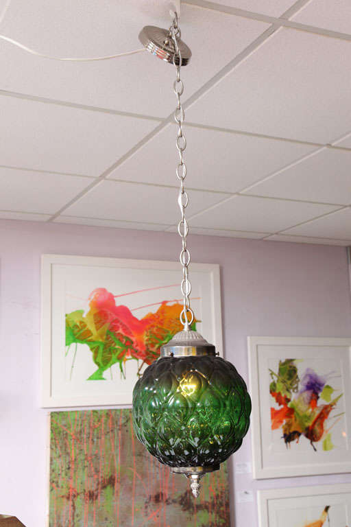 American MOVING SALE  from $2100 emerald green CEILING PENDANT,MID CENTURY, stunning For Sale