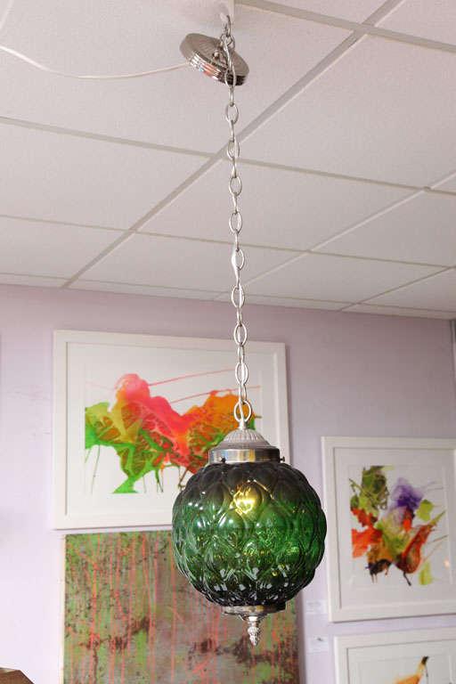 Green Ceiling Pendant, Restored  3