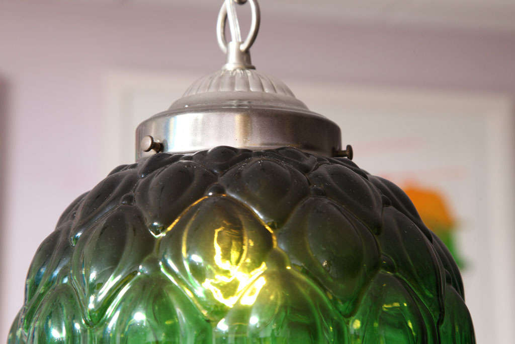 Mid-20th Century MOVING SALE  from $2100 emerald green CEILING PENDANT,MID CENTURY, stunning For Sale