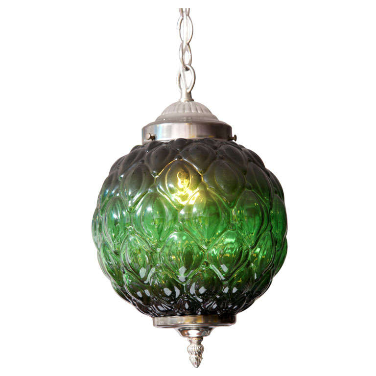 MOVING SALE  from $2100 emerald green CEILING PENDANT,MID CENTURY, stunning For Sale