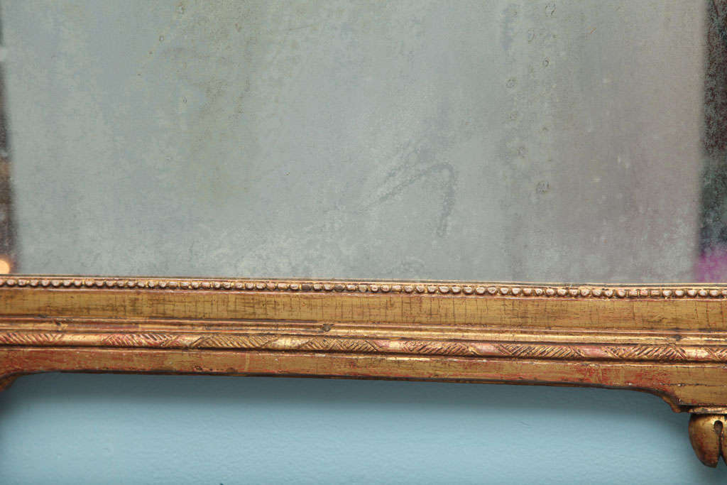 Louis XVI Carved and Gilded Mirror For Sale 2