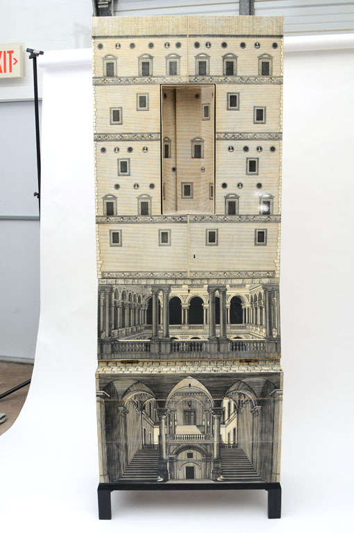 Rare Piero Fornasetti Cabinet For Sale 1