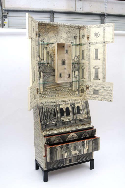Italian Rare Piero Fornasetti Cabinet For Sale