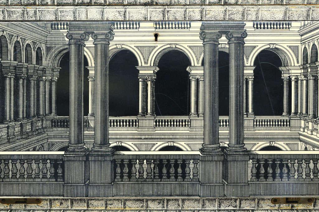 Mid-20th Century Rare Piero Fornasetti Cabinet For Sale