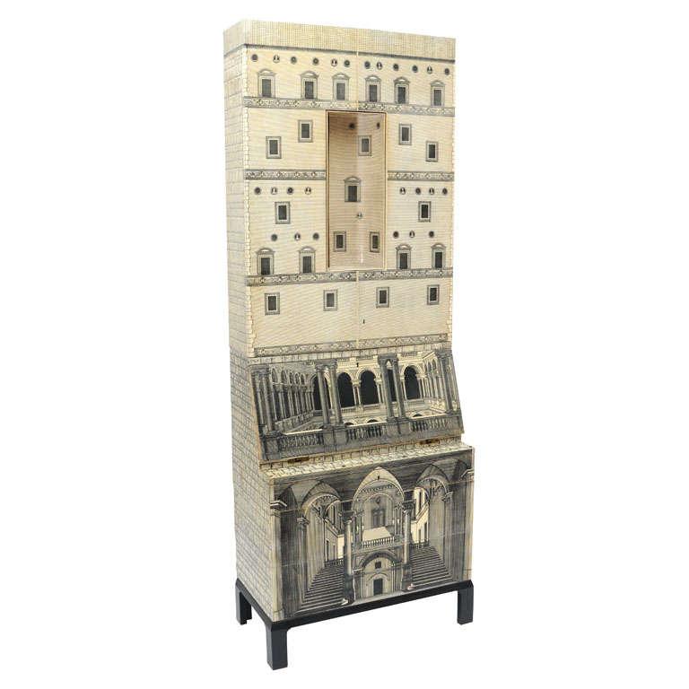 Rare Piero Fornasetti Cabinet For Sale