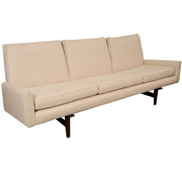Missoni Home 3 Seat Sofa Gravita: 3 Seat Jens Risom Sofa With Walnut Frame At 1stdibs