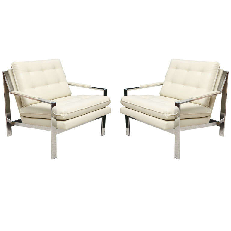 Pair of Cy Mann Chairs For Sale