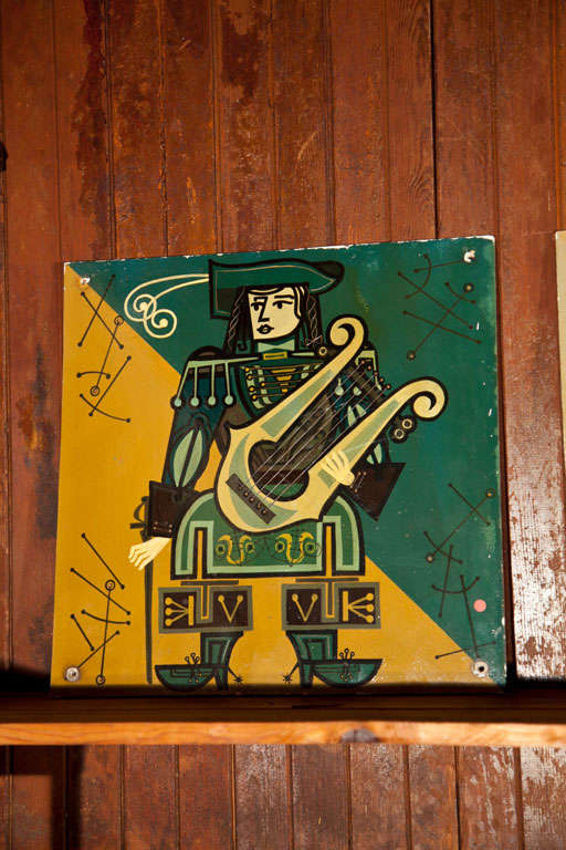 Set of Five French Musicians Panels In Excellent Condition For Sale In Stamford, CT