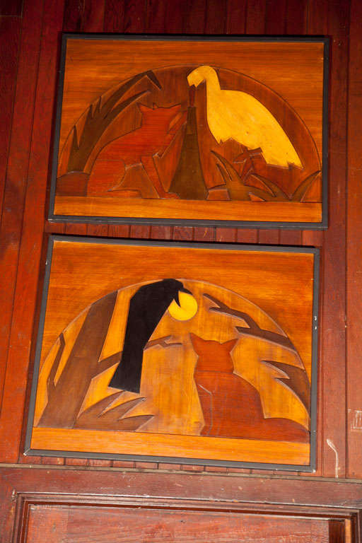 Wood Panels of La Fontaine Fables 3