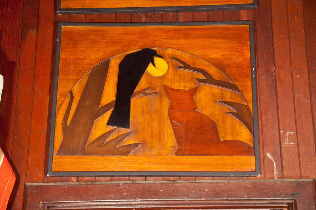 Wood Panels of La Fontaine Fables 4