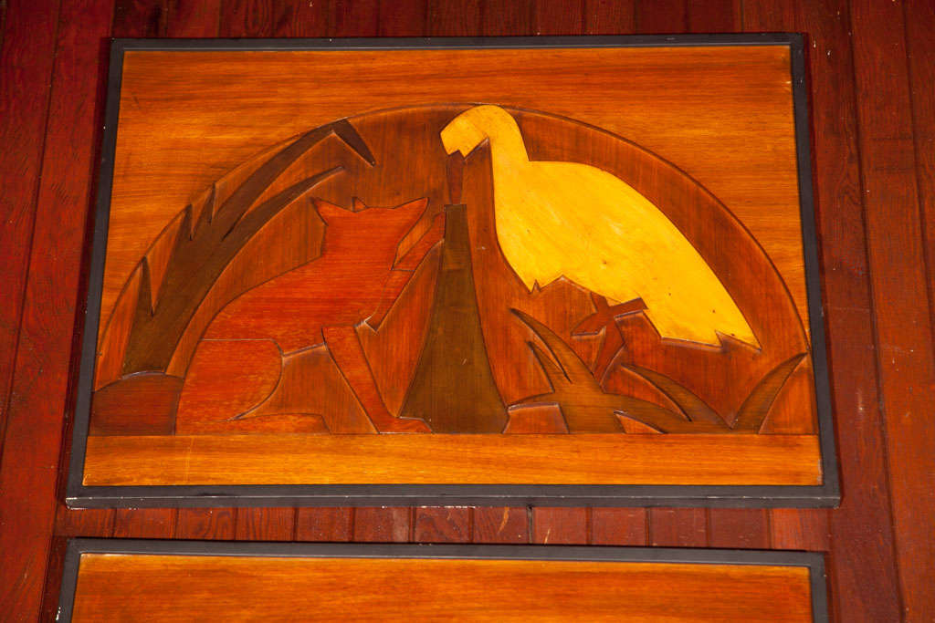 Wood Panels of La Fontaine Fables 5