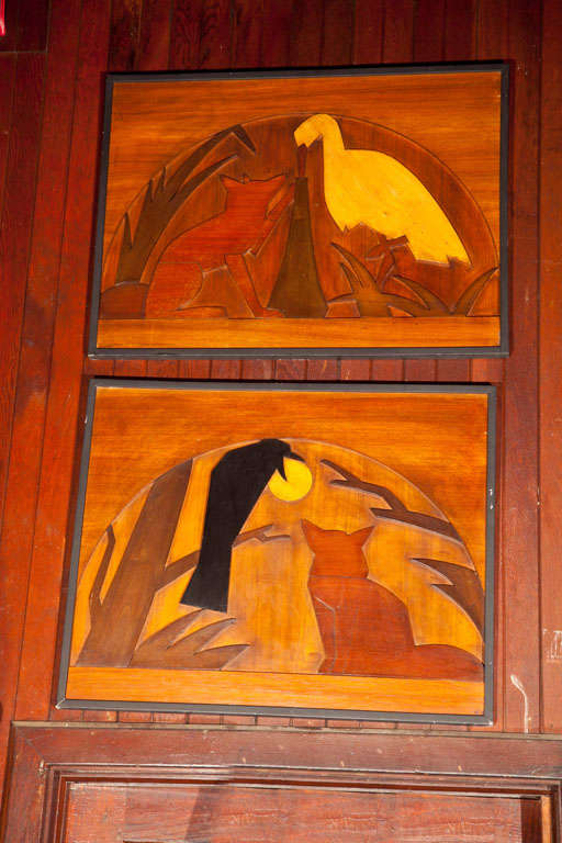 Wood Panels of La Fontaine Fables 2