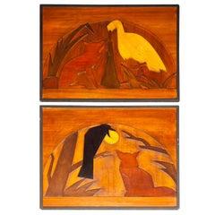 Wood Panels of La Fontaine Fables