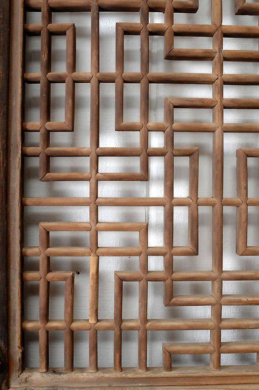 Chinese Lattice Doors At 1stdibs