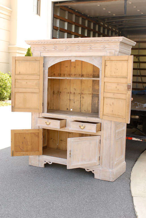 incredible pine bedroom furniture | INCREDIBLE PINE ARMOIRE at 1stdibs