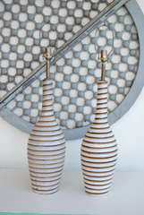 Swedish Horizontal Striped Lamps thumbnail 3
