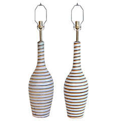 Swedish Horizontal Striped Lamps thumbnail 1