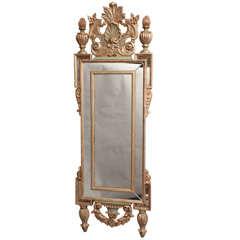 Very Tall & Narrow Form Italian Wall Mirror