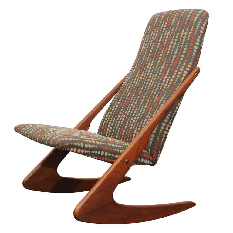 Teak Adrian Pearsall Rocking Chair For Sale