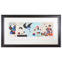 Signed Miro Lithograph- Excellent Provenance