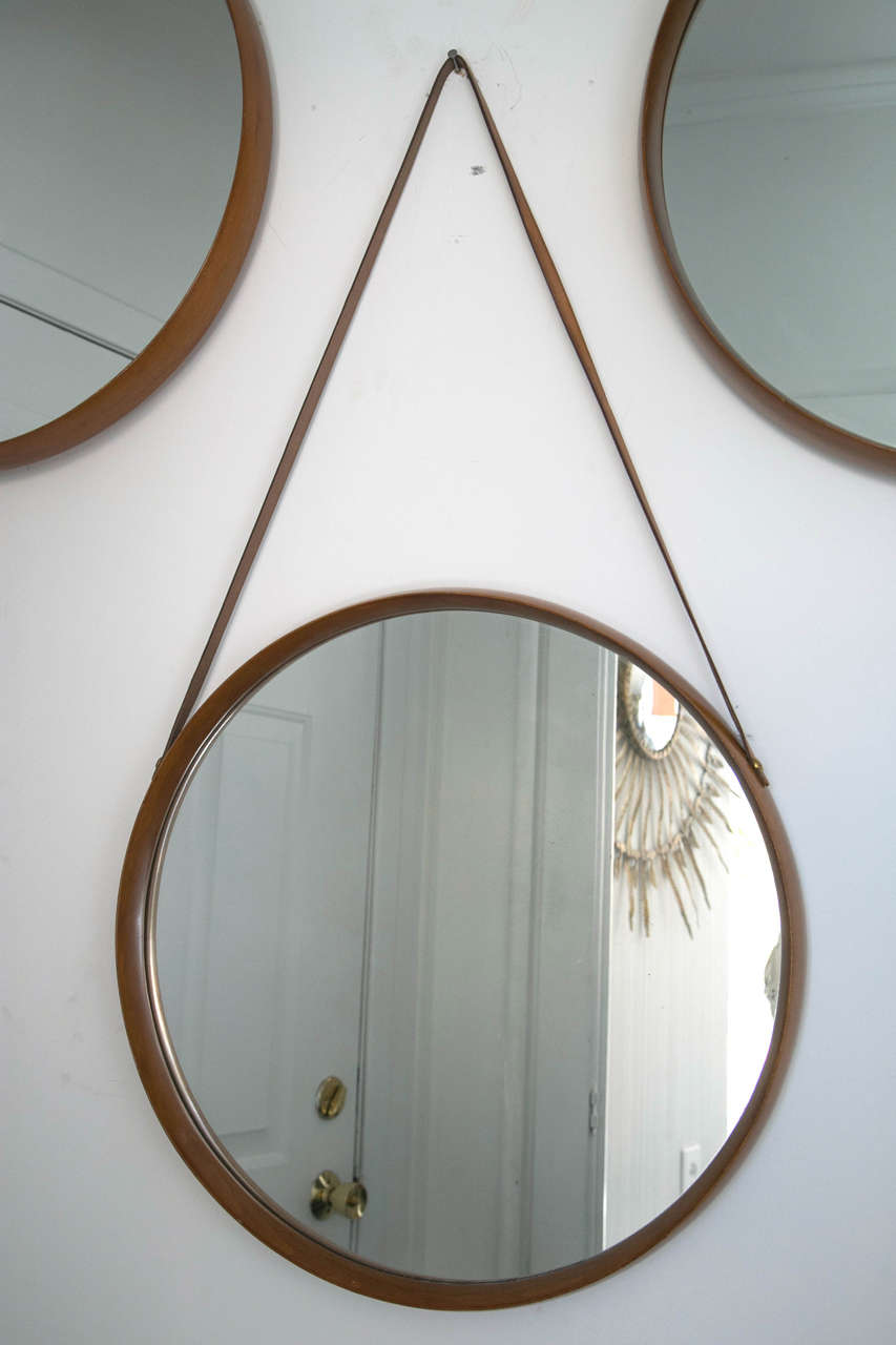 set of three italian wood mirrors for sale at 1stdibs. Black Bedroom Furniture Sets. Home Design Ideas