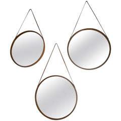 Set of Three Italian Wood Mirrors