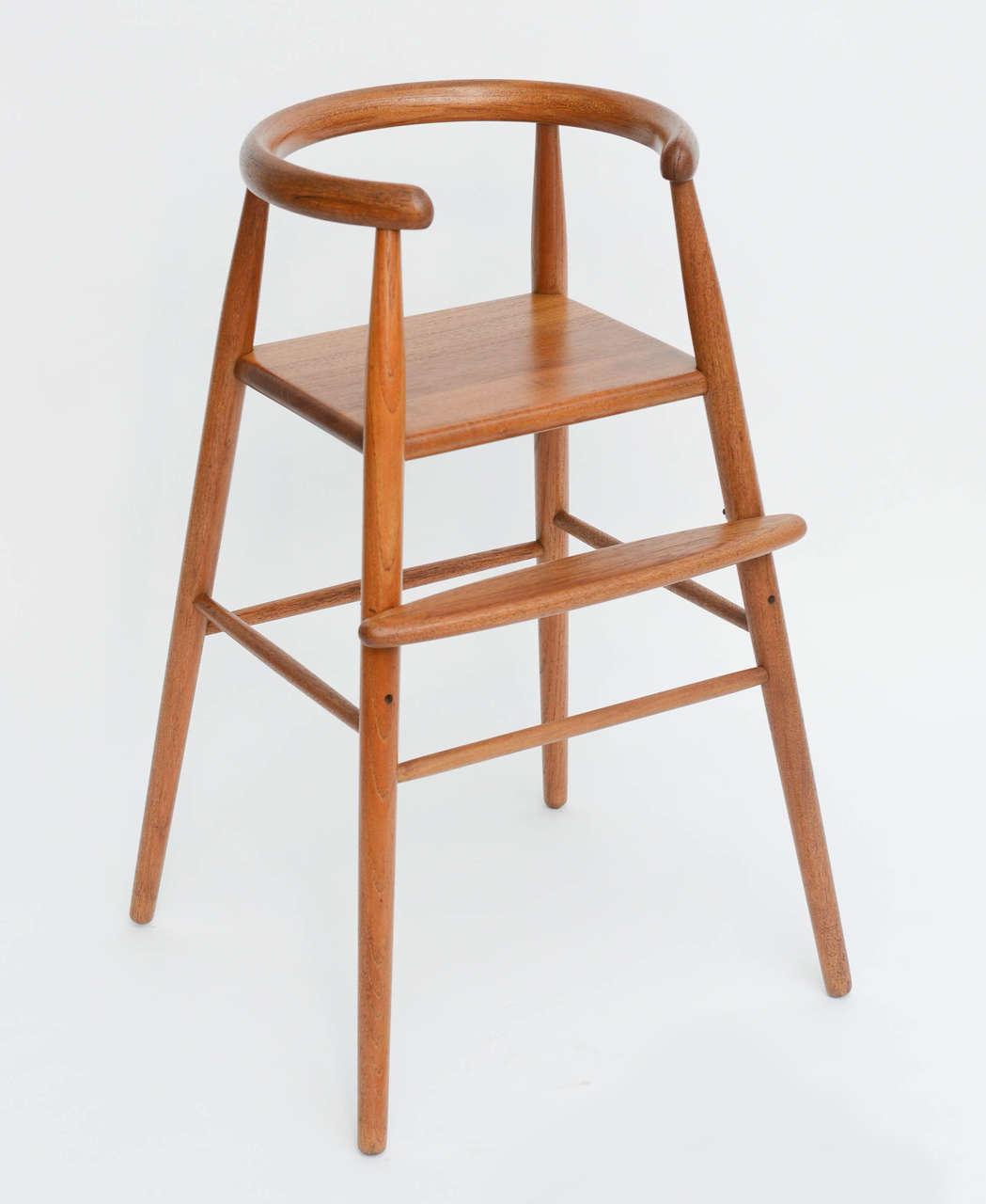 teak child's modern high chair nanna ditzel for kolds savvaerk for  - teak child's modern high chair nanna ditzel for kolds savvaerk