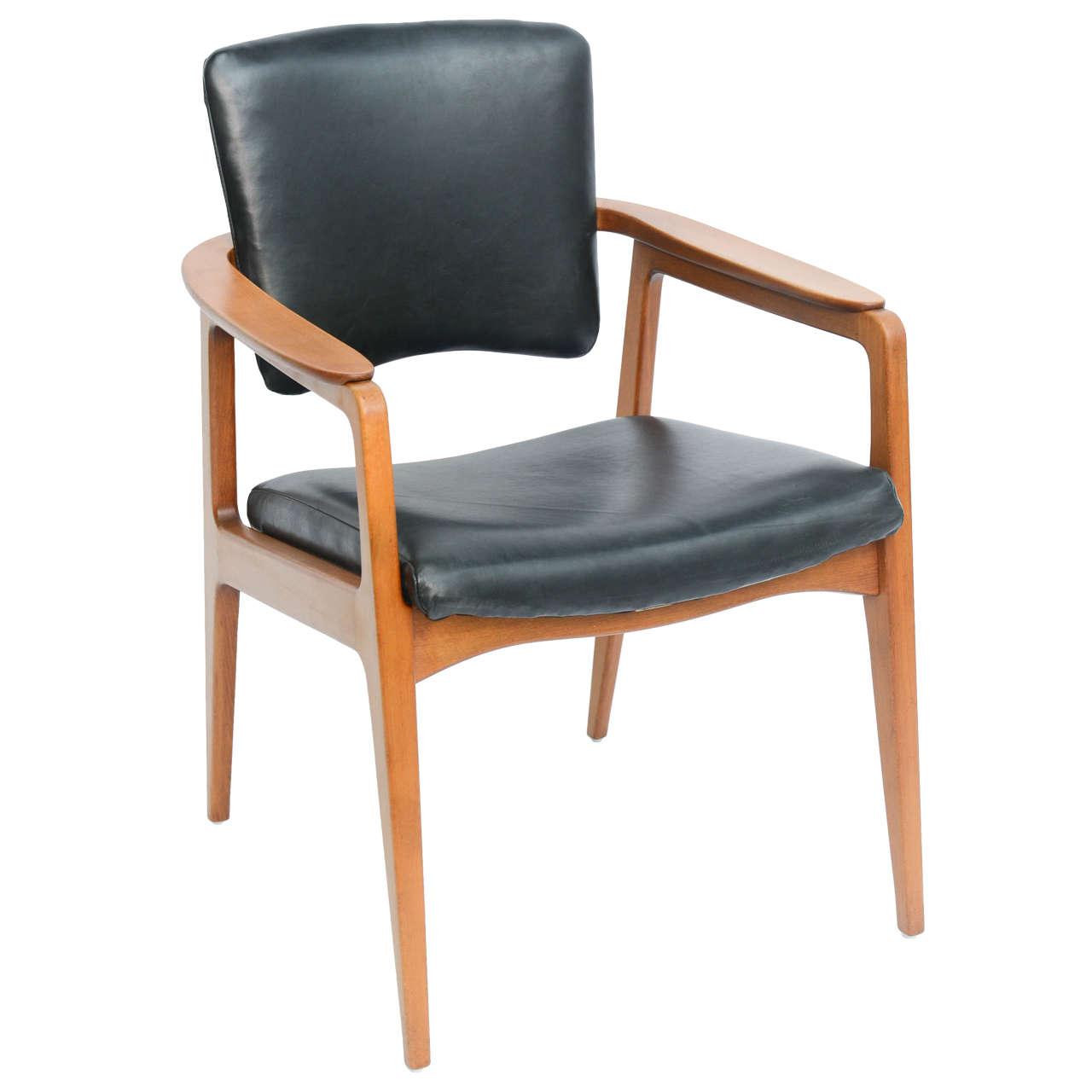 Sigvard Bernadotte Teak Lounge Armchair for France & Daverkosen