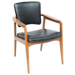 Sigvard Bernadotte Teak Lounge Armchair for France & Daverkosen