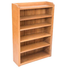 Robert Thompson Mouseman Oak Open Bookcase