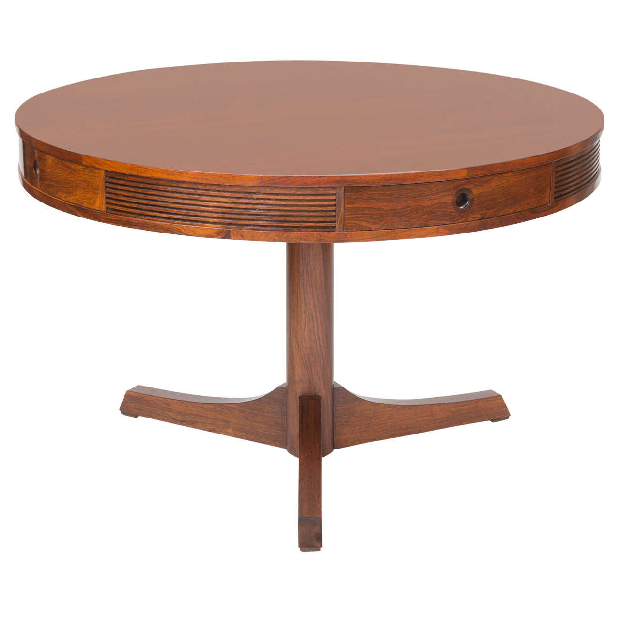 Superb img of  Heritage Rosewood Drum Table Made for Archie Shine For Sale at 1stdibs with #B0511B color and 1280x1280 pixels