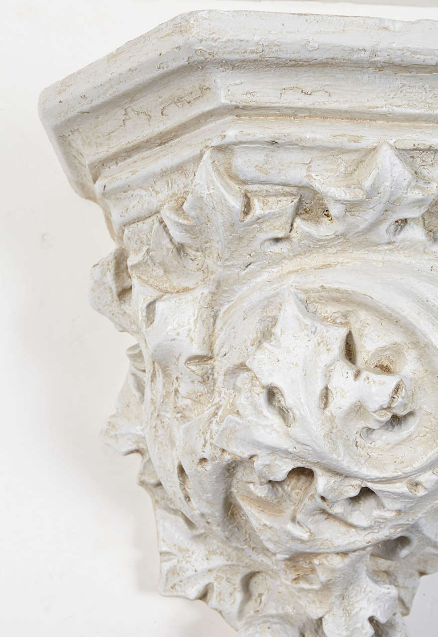 Resin Rococo Style Cast Wall Bracket For Sale
