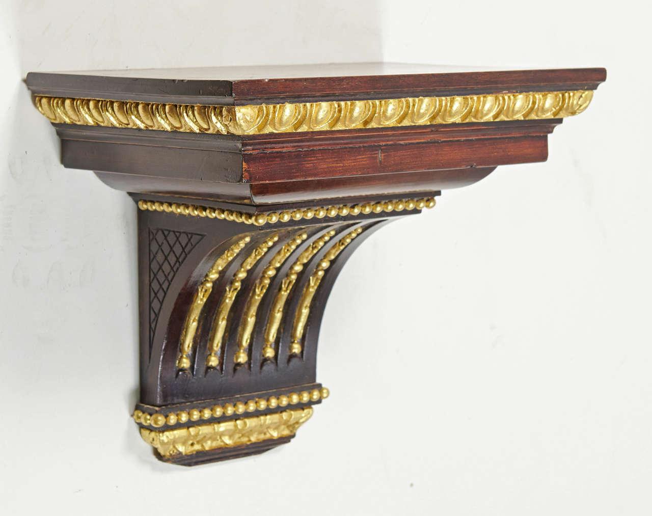 late 19th century regency style mahogany wall bracket 3