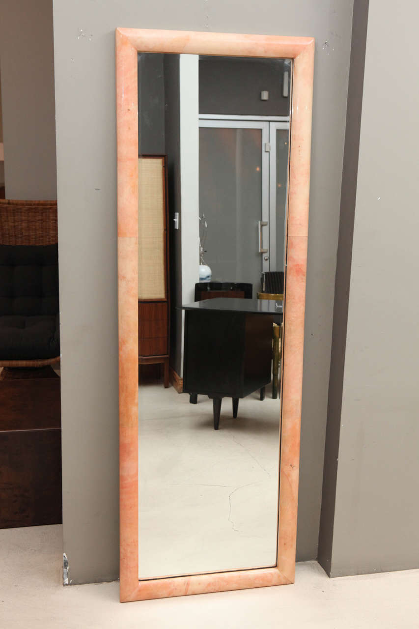 Full Length Goatskin Dressing Mirror At 1stdibs