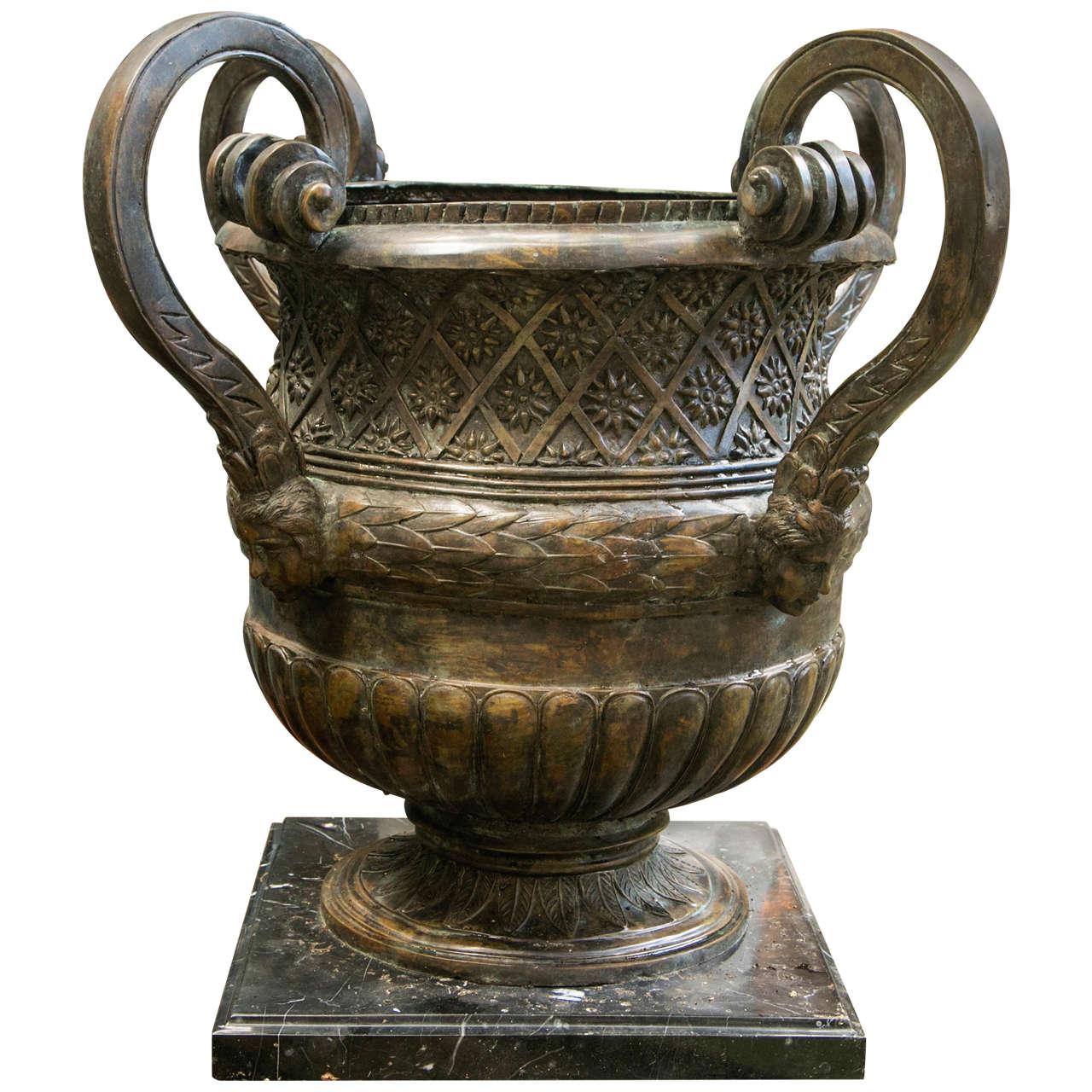 Bronze Four Handled Urn