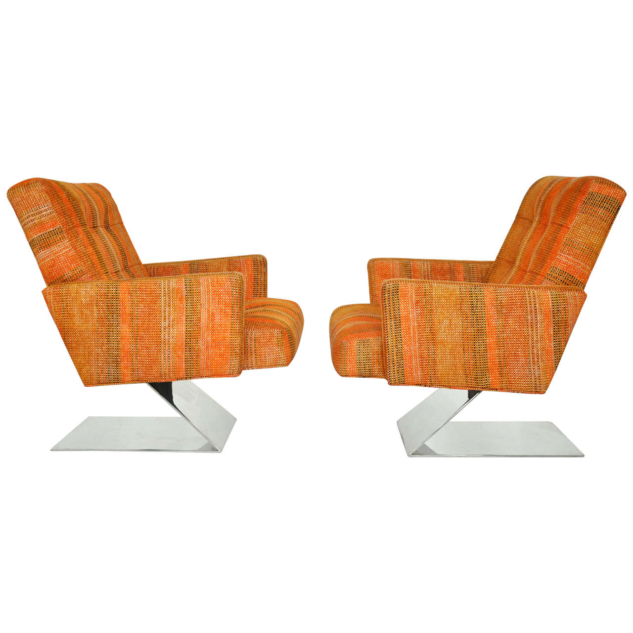 Milo Baughman Cantilever Lounge Chairs For Sale At 1stdibs
