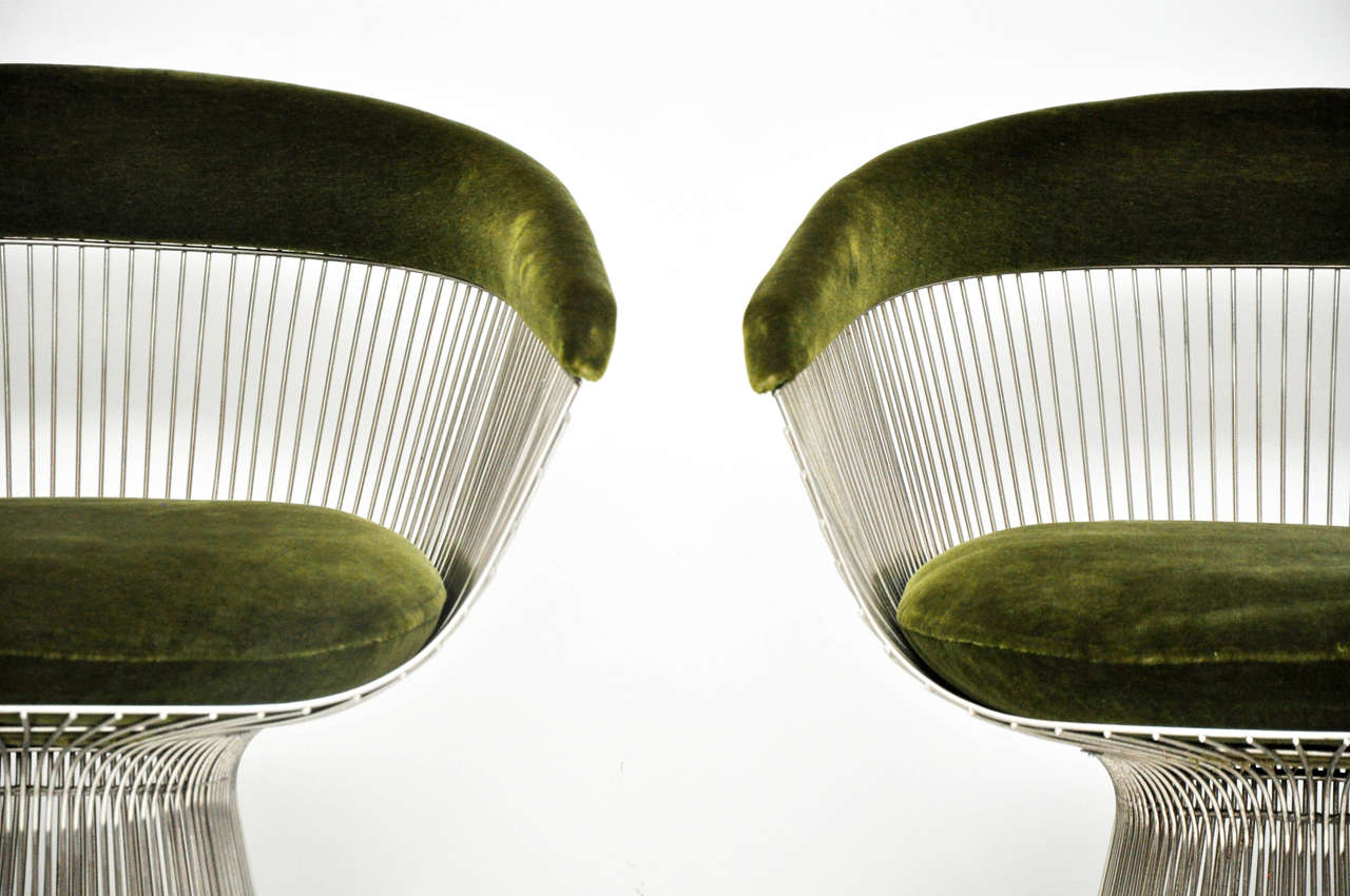 Warren Platner Pair of Side Chairs In Excellent Condition For Sale In Chicago, IL