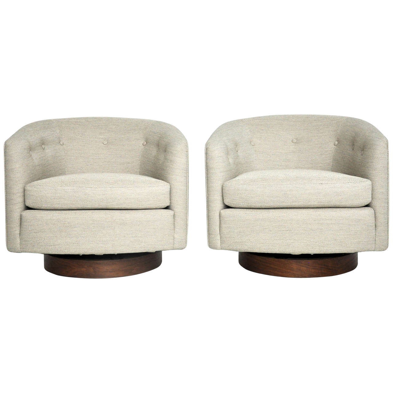 Milo Baughman Swivel Lounge Chairs 1