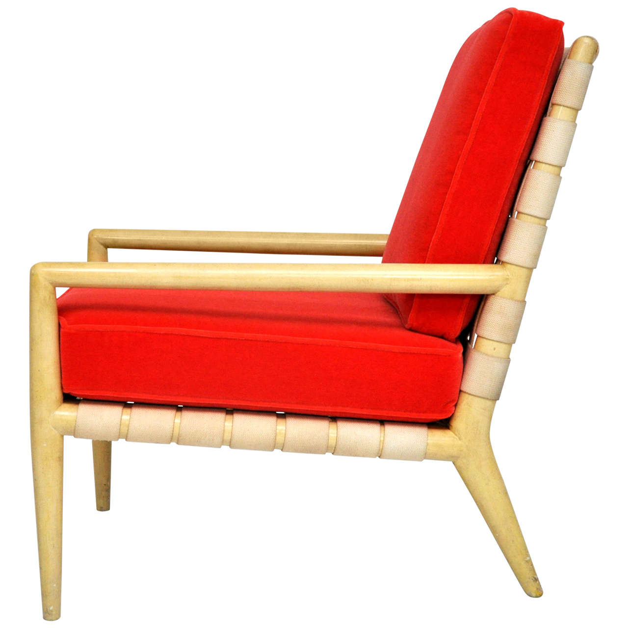 T.H. Robsjohn-Gibbings Strapped Lounge Chair