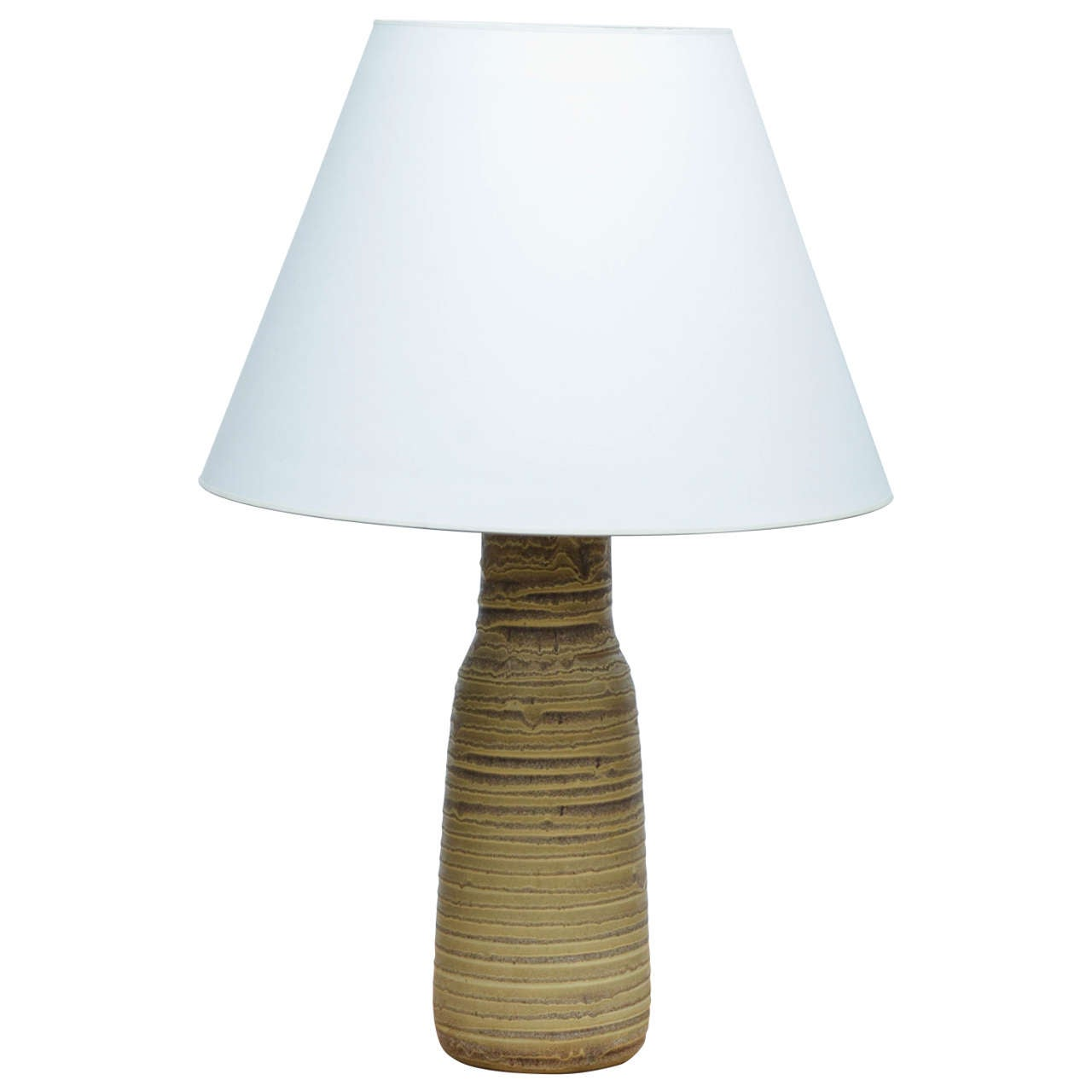 Green and Brown Ceramic Table Lamp by Design Technics