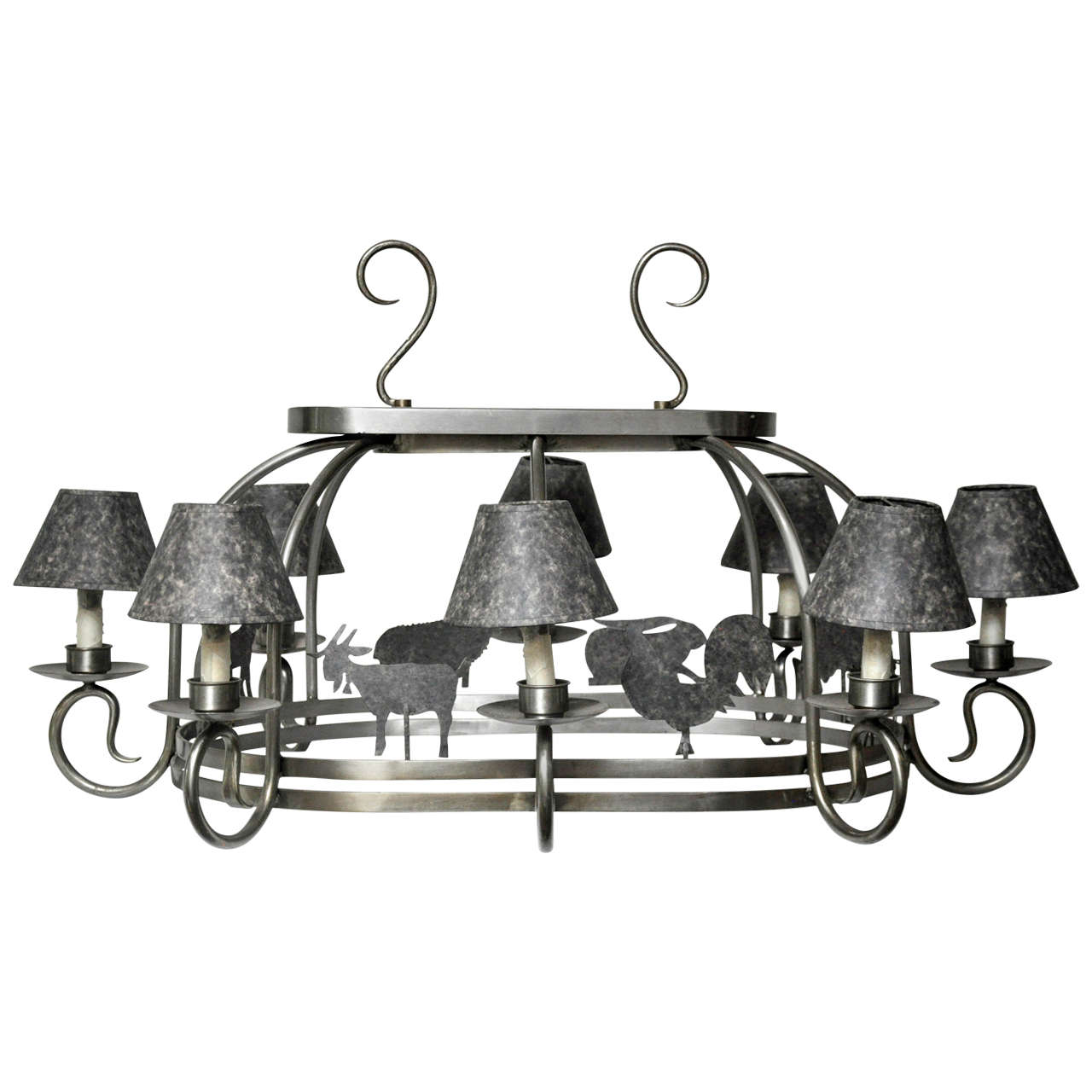 country french farm animal chandelier at 1stdibs