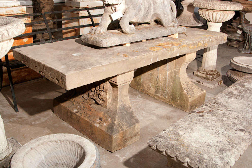 This Stone Table Is Over The Top! With A Single Slab Top Measuring 4 Inches
