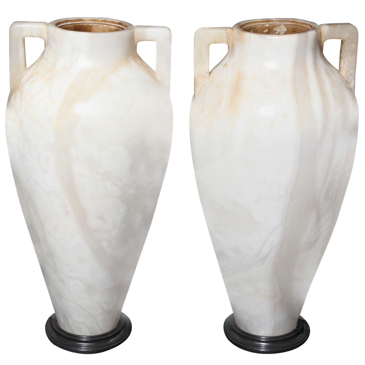 A large pair of french art deco period two handled alabaster vases a large pair of french art deco period two handled alabaster vaseslamps for sale reviewsmspy